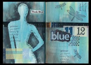 Art Journal Blue