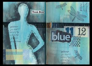 Art Journal Blue