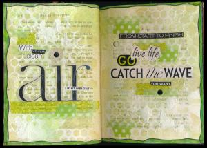 Art Journal catch the wave