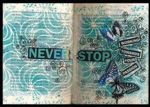 Art Journal never stop working towards your passion