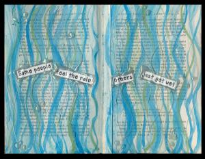 Art Journal Feel the Rain
