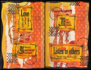 Art Journal Love Give Trust